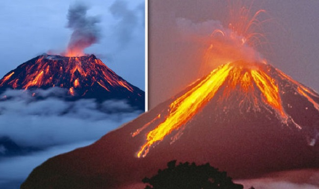 Volcanoes across the planet would erupt