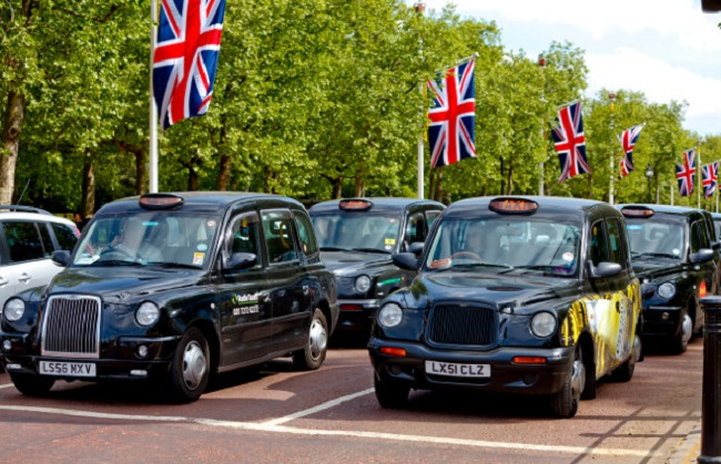 Black cabs in UK