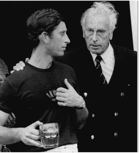 Charles with father philip
