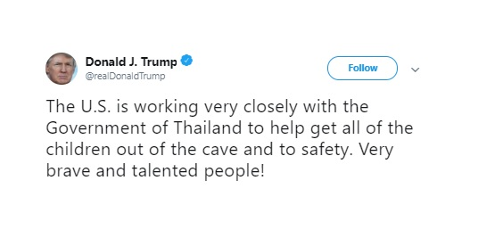 President Donald Trump Tweet