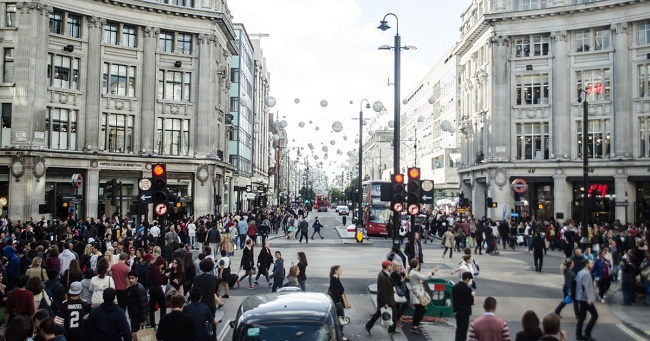 Shopping on Oxford Street