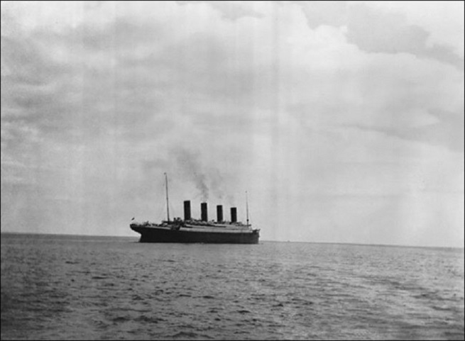 Titanic before sinking