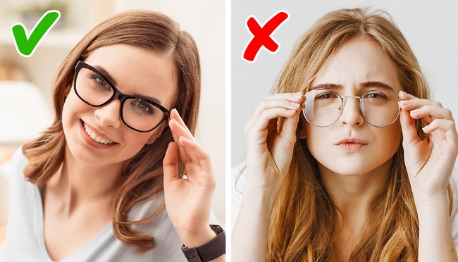 Use glasses or contact lenses