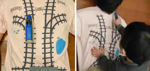 Ingenious Dad Designs Creative T-Shirt That Tricks His Son Into Giving Him A Back Massage