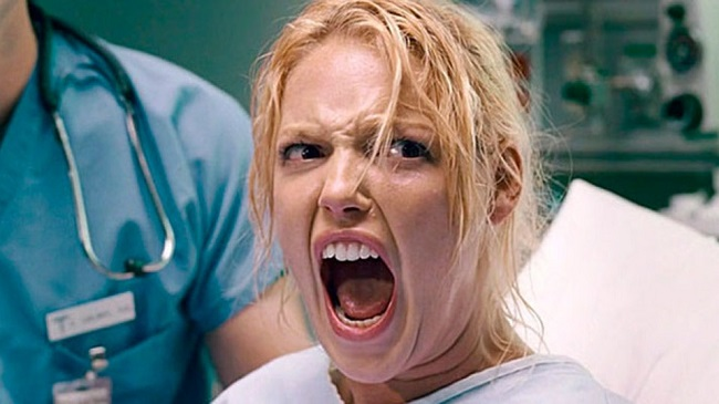 When they show women in labor although it isn't necessary