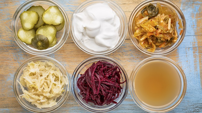 Consuming probiotic foods