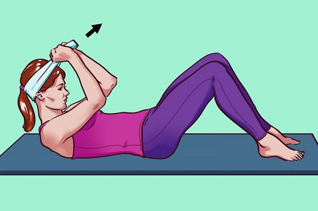 Neck and shoulders: A soft stretching exercise for the neck
