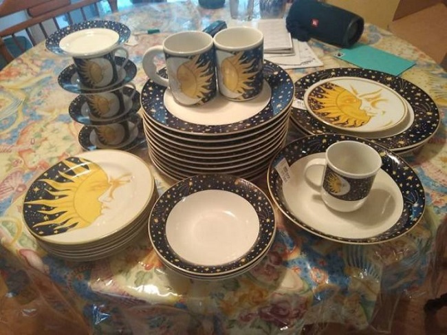 Old plates and dishes