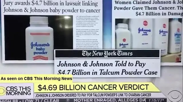 Lawsuits on johnson and  johnson