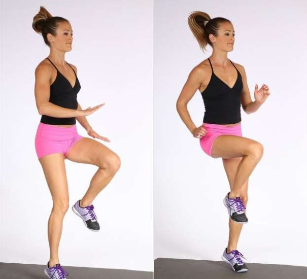 How to do knee raise exercise