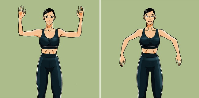 Palm down exercise