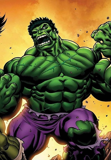 Hulks iconic green color