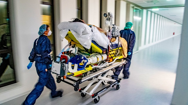 Hospital Overload Forces Covid-19 Patient Transfer in Netherlands