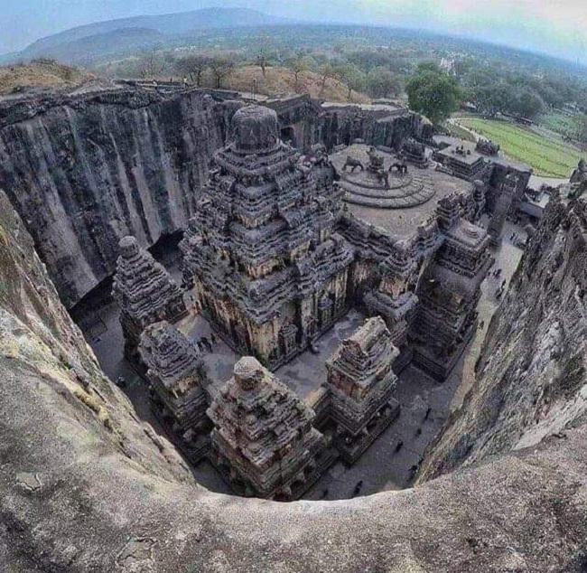 Temple in india carved out of single stone