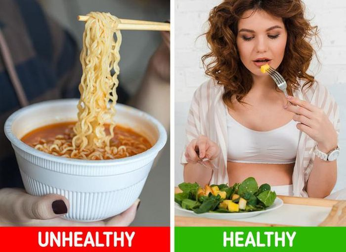 A healthy meal is a much better option