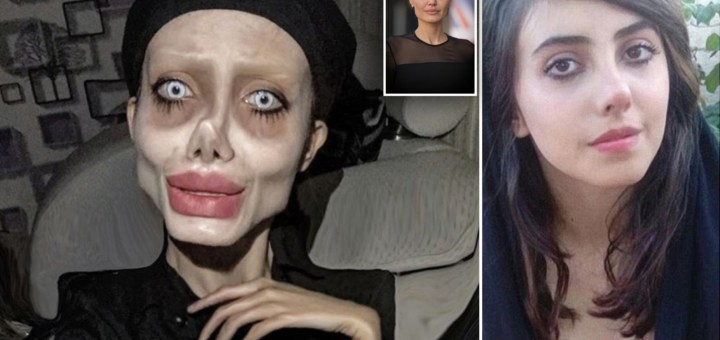 Iranian Angelina Jolie Zombie Look Alike Was Arrested and Now Faces Ten Years in Jail