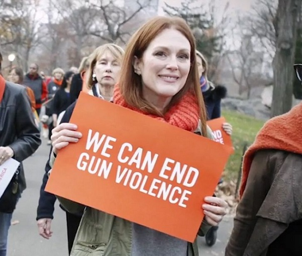 Julianne Moore's fight against violence and pollution