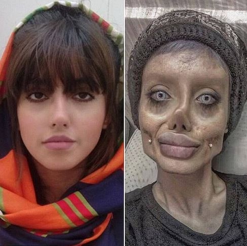 Sahar Tabar was famous for her bizarre pictures looking like a zombie Angelina Jolie