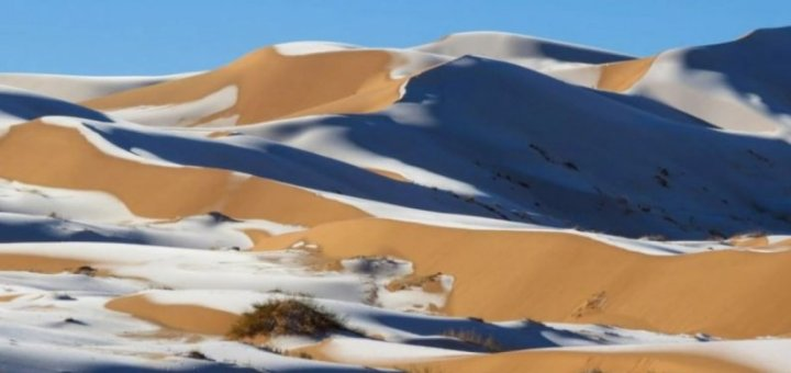 Freakish Weather Blankets the Sahara Desert with Snow with temperatures at -2 C