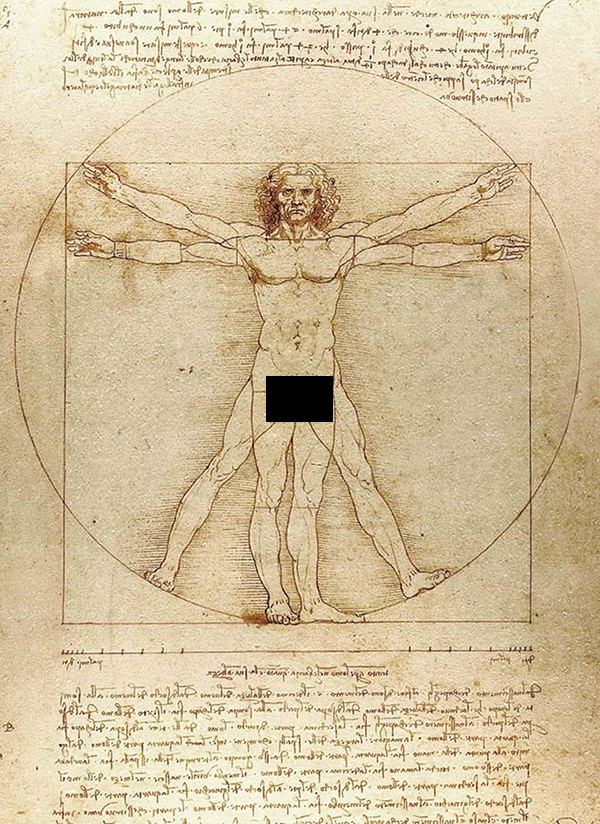 Physical attraction depends on the golden ratio