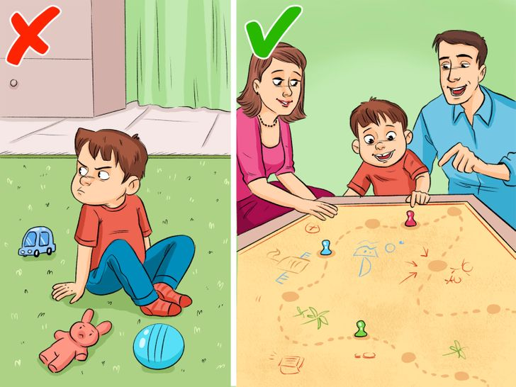 Divert your child's attention