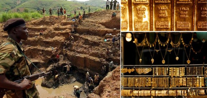 Gold Mountain With 60-90% Soil Gold found in Central Africa Congo Country