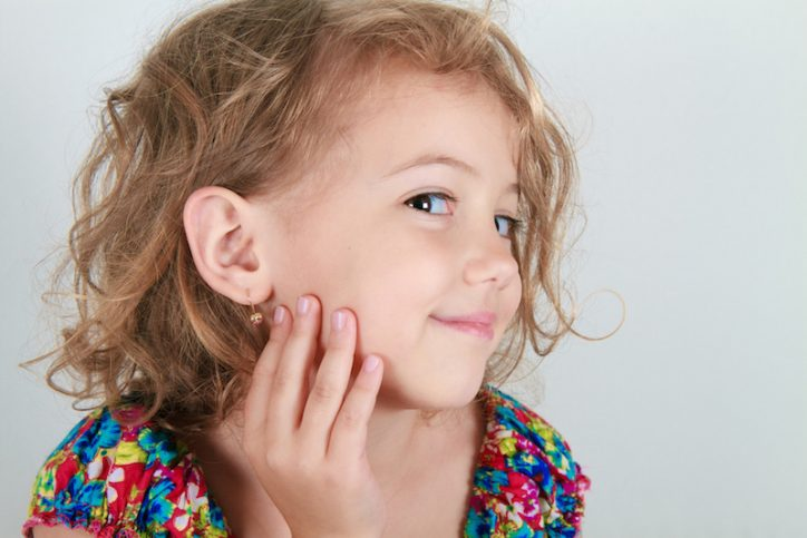 Once you pierce the ears of the children, they will become permanent