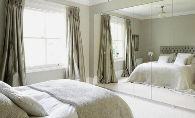 Mirror facing your bed