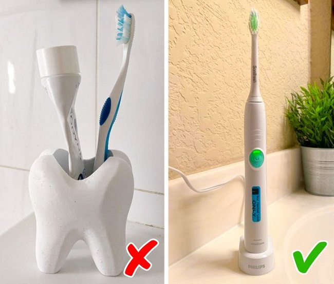 You may use an electric toothbrush