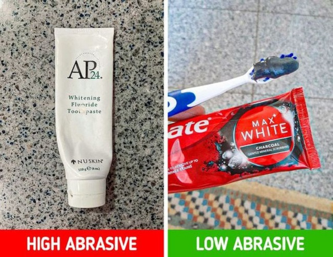 Your toothpaste should be a low-abrasive