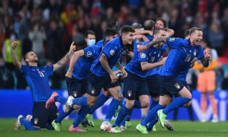 منتخب ايطاليا يقصي اسبانيا ويتأهل الى نهائي يورو 2020 امم اوروبا 2021