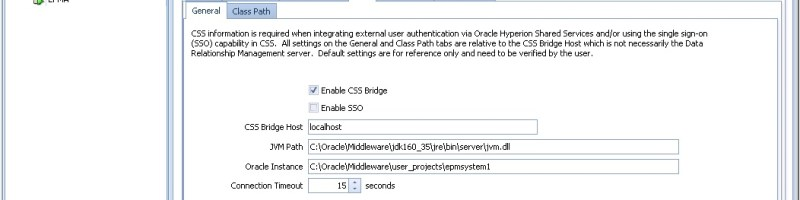 Integrating Oracle DRM security with Hyperion Shared Services