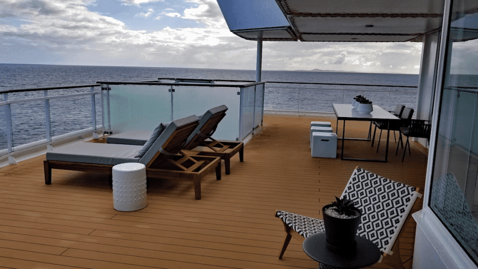 The penthouse suite is the largest guest accomodations on the Celebrity Summit