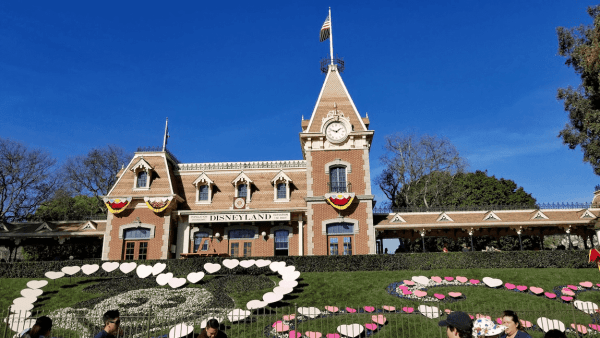 The train station at entrance to Disneyland in Anaheim