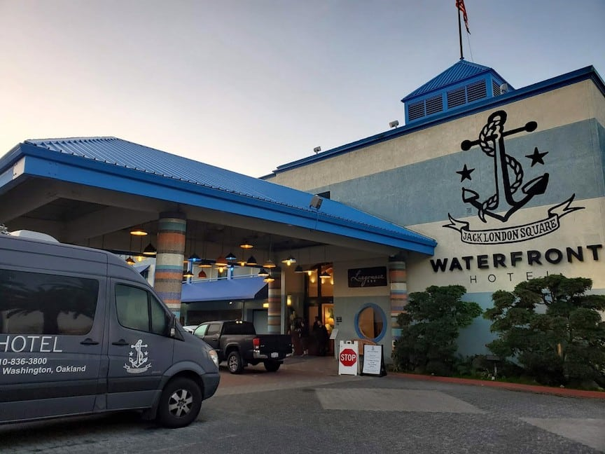 Entrance to the Waterfront Hotel in Jack London Square