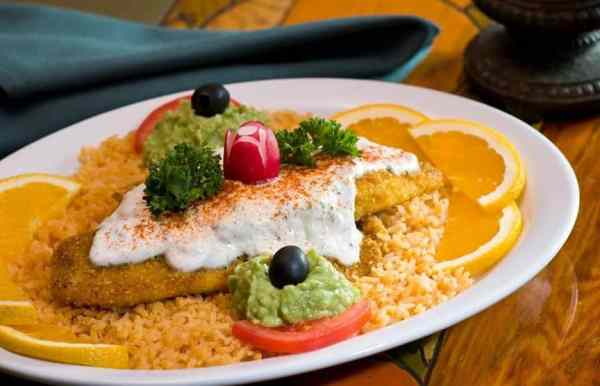 Seafood dish from Manuel's Mexican Restaurant in Aptos