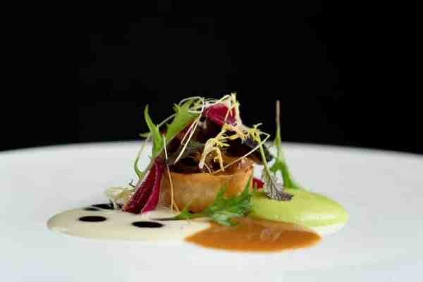 Another beautiful dish created by chef Troy of Temporis
