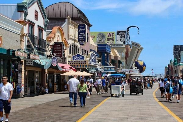 The boardwalk at Atlantic City
