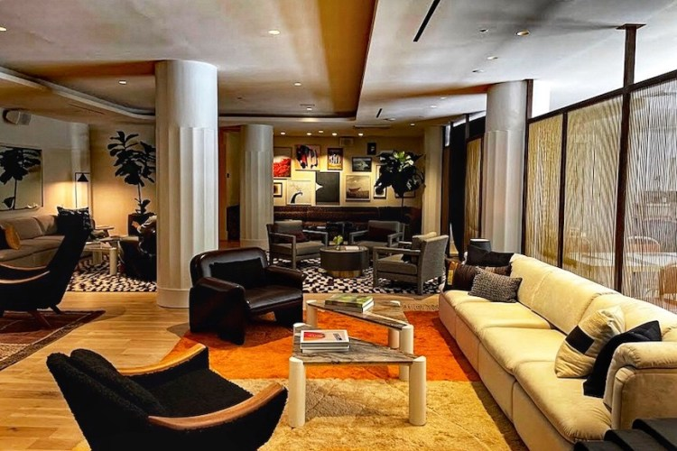 Interior of the new luxury hotel The Alton