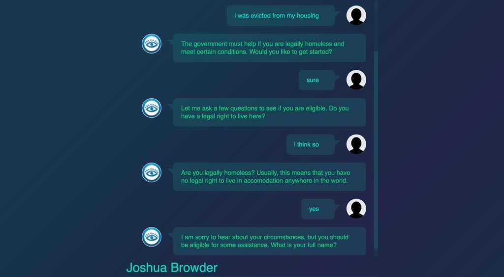 Chatbot Lawyer Now Helps Fight Homelessness