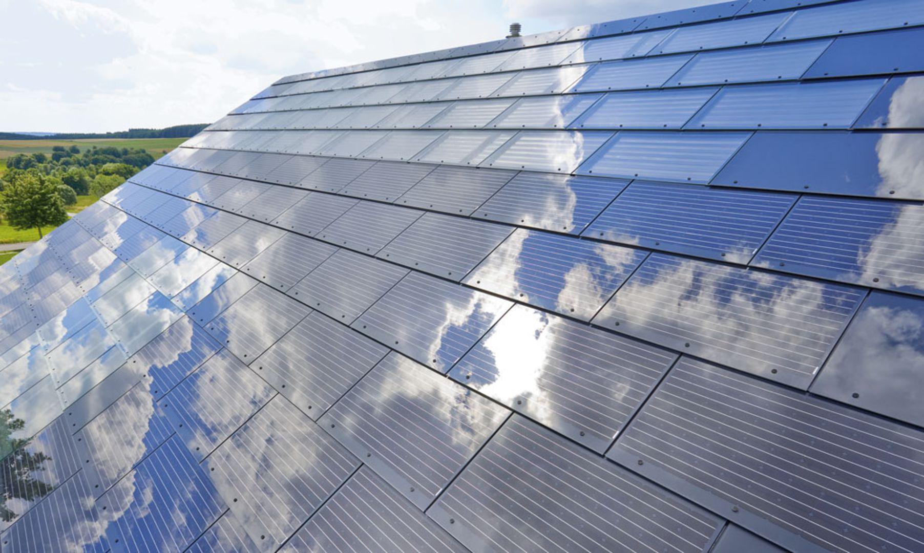 A New V-Shape Roof Can Collect Solar Power, Wind Power and Rain Water