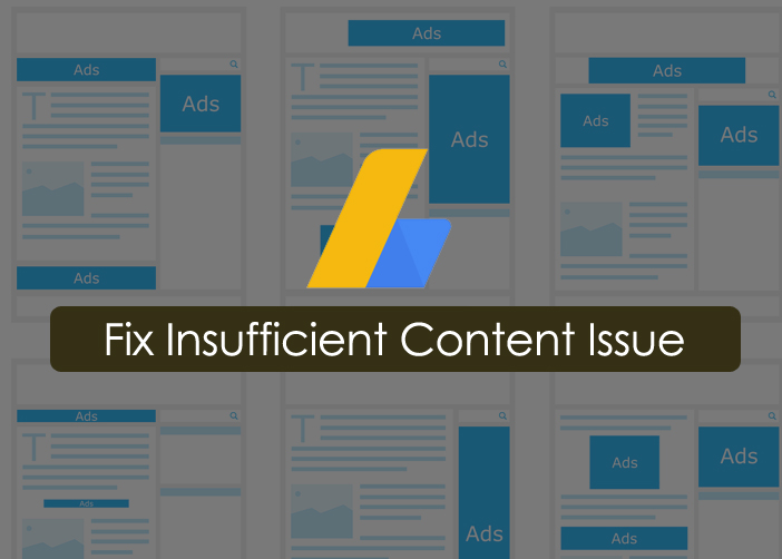 AdSense rejected for Insufficient content