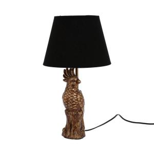 Bordslampa Fågel Antikmässing