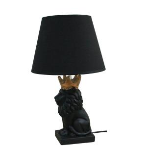 Bordslampa Lejon Svart