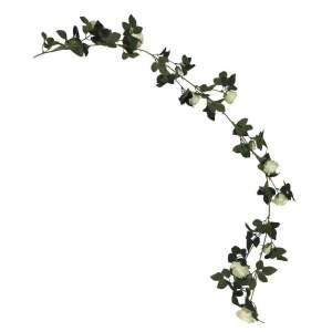 Konstväxt Blomranka Vit
