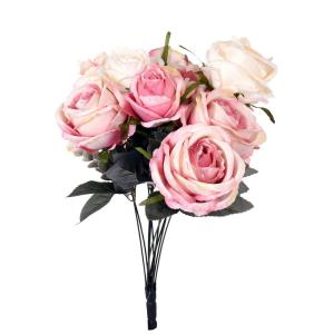 Konstväxt Bukett rosor Creme/Rosa