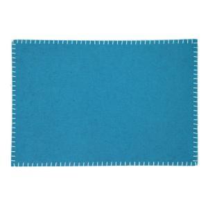 Tablett Filt kastsöm Blå