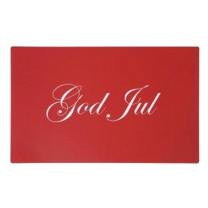Tallriksunderlägg God jul Röd