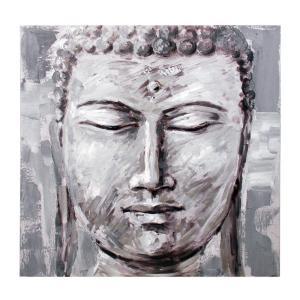 Tavla Buddha Grå