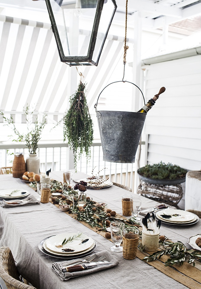 : rustic table setting - pezcame.com